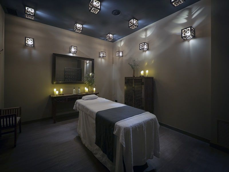 Massage cabin of the best spa in Barcelona
